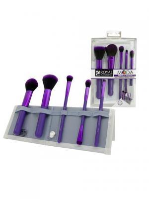 Royal&langnickel MODA PERFECT MINERAL SET. Набор кистей для макияжа в чехле  Идеальный минерал. Цвет: фиолетовый