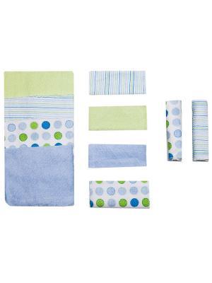 Комплект для новорожденных Spasilk. Цвет: голубой, белый, светло-зеленый