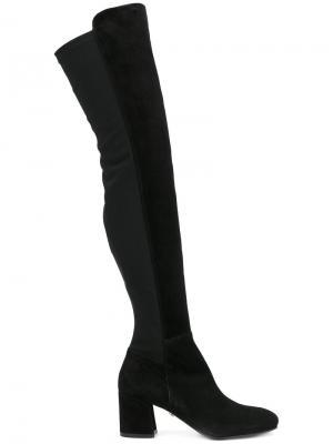 Высокие сапоги Le Silla. Цвет: чёрный