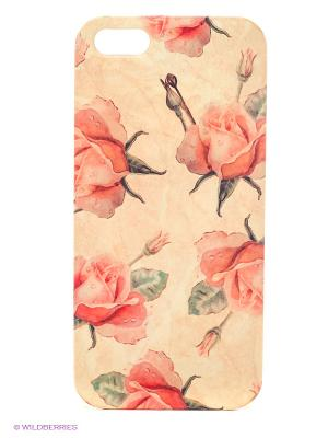 Чехол для IPhone 5 Нежные розы Mitya Veselkov. Цвет: бежевый, красный