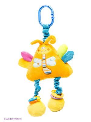 Погремушка Стрекоза Amico. Цвет: желтый, салатовый, голубой, сиреневый, оранжевый