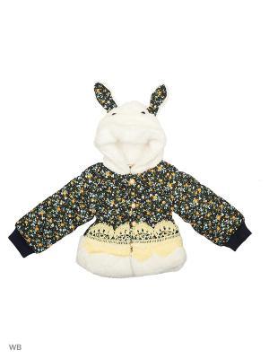 Куртка Happy Bear. Цвет: желтый, белый, черный
