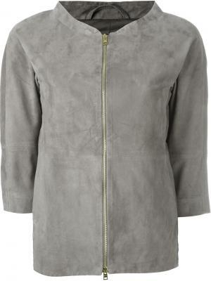 Пиджак на молнии Herno. Цвет: серый