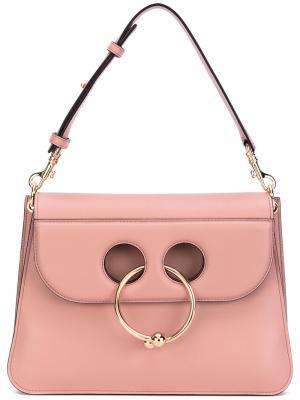 Средняя сумка Pierce J.W.Anderson. Цвет: розовый и фиолетовый