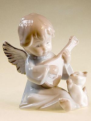 Фигурка Ангелочек Pavone. Цвет: бежевый, голубой
