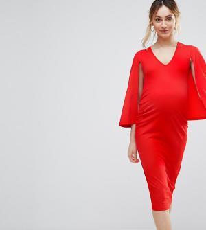 Bluebelle Maternity Платье-кейп. Цвет: розовый