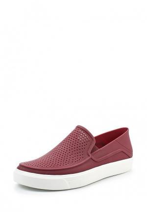 Слипоны Crocs. Цвет: бордовый