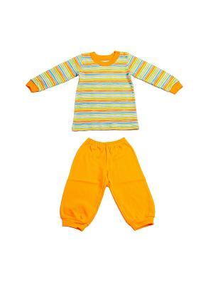 Пижама Жанэт. Цвет: оранжевый, белый