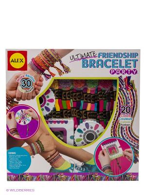 Большой набор для плетения браслетов Alex. Цвет: белый