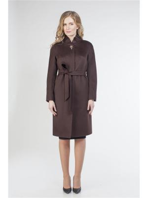 Пальто SHARTREZ. Цвет: темно-коричневый