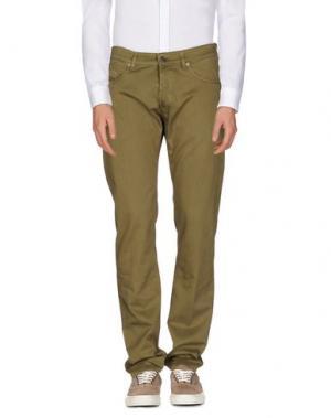 Повседневные брюки M.GRIFONI DENIM. Цвет: зеленый-милитари