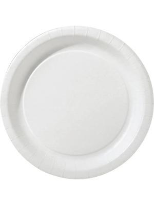 Тарелки 22 см, бум ПОПУЛЯР; DUNI. Цвет: белый