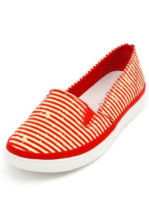 Туфли закрытые Keddo. Цвет: красный, бежевый