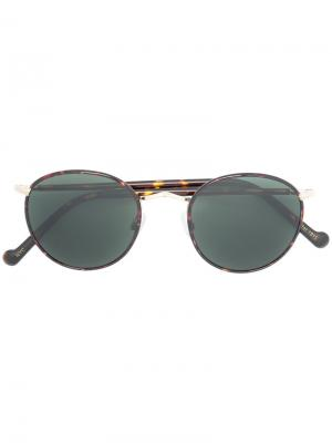 Round frame sunglasses Moscot. Цвет: коричневый