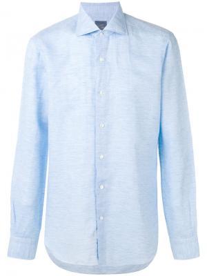Классическая рубашка Barba. Цвет: синий