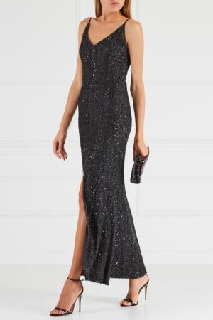 Платье с пайетками Chapurin. Цвет: черный