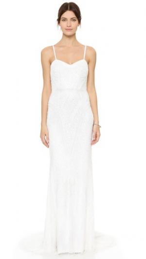Вечернее платье Marion с бисером Theia. Цвет: золотой
