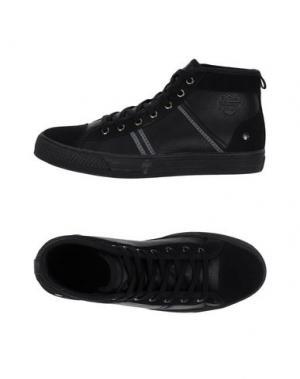 Высокие кеды и кроссовки MONTEFIORI. Цвет: черный