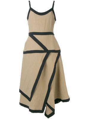 Платье из разных лоскутков J.W.Anderson. Цвет: телесный
