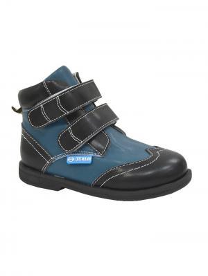 Обувь ортопедическая малосложная DALLAS, арт. 7.81.2 ORTMANN. Цвет: черный, голубой