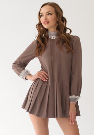Платье Cauris. Цвет: коричневый