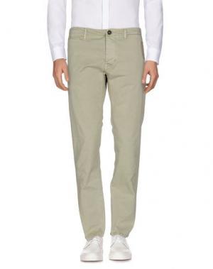 Повседневные брюки REIGN. Цвет: светло-зеленый