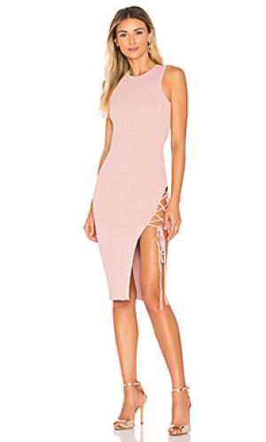 Платье monica Ronny Kobo. Цвет: розовый