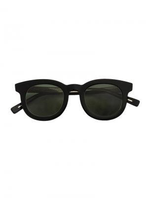 Солнцезащитные очки в квадратной оправе Hakusan. Цвет: чёрный