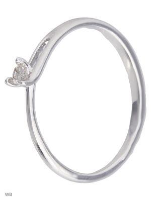 Серебряное кольцо с бриллиантами KAINOS. Цвет: серебристый