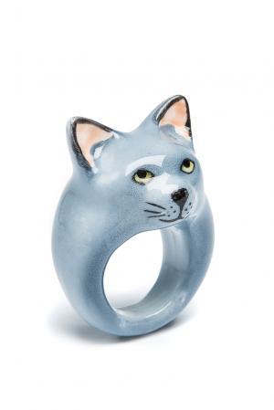 Кольцо 164608 Nach Jewellery. Цвет: синий