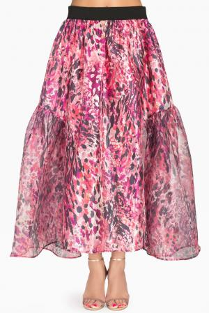 Юбка из шелка 149691 Iya Yots. Цвет: розовый