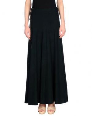 Длинная юбка OBLIQUE CREATIONS. Цвет: темно-зеленый
