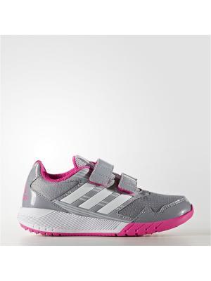 Кроссовки дет. спорт. AltaRun CF K Adidas. Цвет: серый, белый, розовый