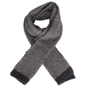Шарф  Lambswool Stripe Scarf Iron Lightning Bolt. Цвет: серый