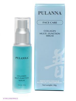 Коллагеновая сыворотка Multi- function collagen serum PULANNA. Цвет: голубой