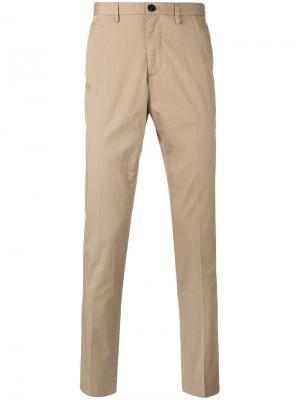 Классические брюки-чинос Michael Kors Collection. Цвет: телесный