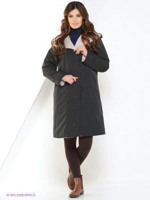 Куртка женская двустороняя DIXI CoAT. Цвет: серый