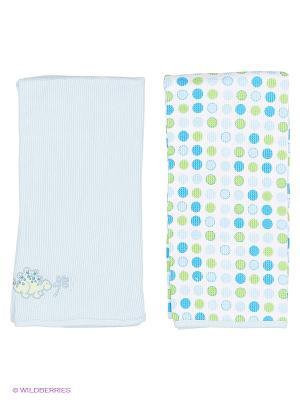 Трикотажные пеленки Spasilk. Цвет: голубой, светло-голубой