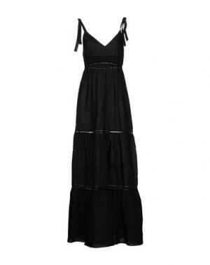 Длинное платье CARLA G.. Цвет: черный