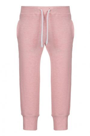 Хлопковые брюки LISA&LEO. Цвет: розовый