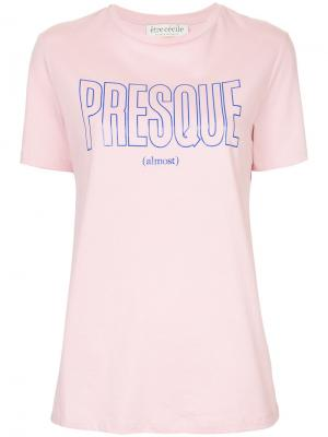Футболка Presque Être Cécile. Цвет: розовый и фиолетовый