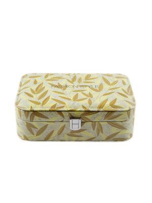 Шкатулка для ювелирных украшений Русские подарки. Цвет: светло-коричневый,темно-бежевый,светло-желтый