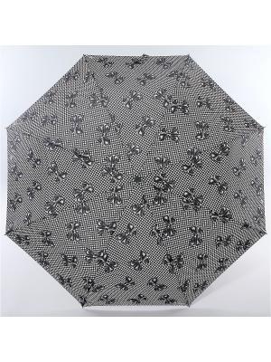Зонт Zest, 3 слож, ПолнАвто, П-Э Zest. Цвет: черный, серо-голубой, темно-серый