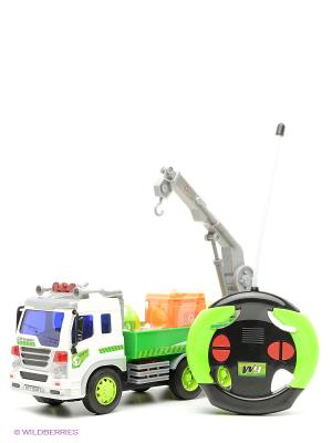 Машина Грузовик- мусоровоз с манипулятором Amico. Цвет: зеленый