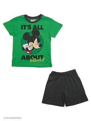 Пижама Disney. Цвет: зеленый