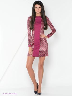 Платье La Fleuriss. Цвет: розовый