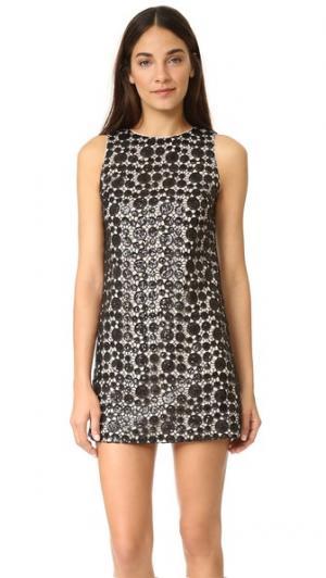 Свободное платье Clyde, расшитое блестками alice + olivia. Цвет: черный/кунжут