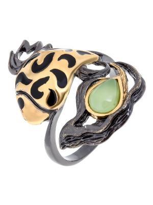 Кольцо Балтийское золото. Цвет: черный,зеленый