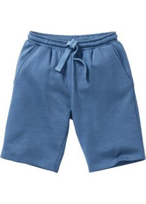 Трикотажные шорты стандартного покроя (синий джинсовый) bonprix. Цвет: синий джинсовый