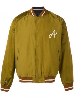 Куртка-бомбер  с вышивкой A Bellerose. Цвет: зелёный